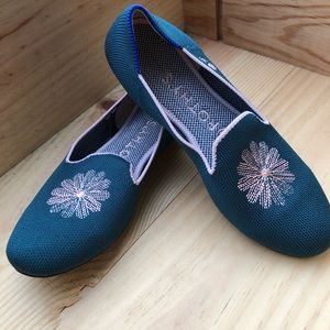 Rothy's Green & Pink SF Fillmore exclusive loafer